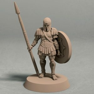 Realm of Eros soldier with spear pose 1 front
