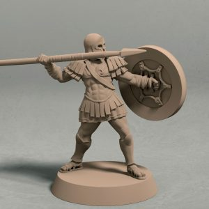 Realm of Eros soldier with spear pose 3 front