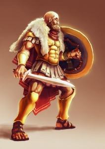 Alexos the wolf illustration