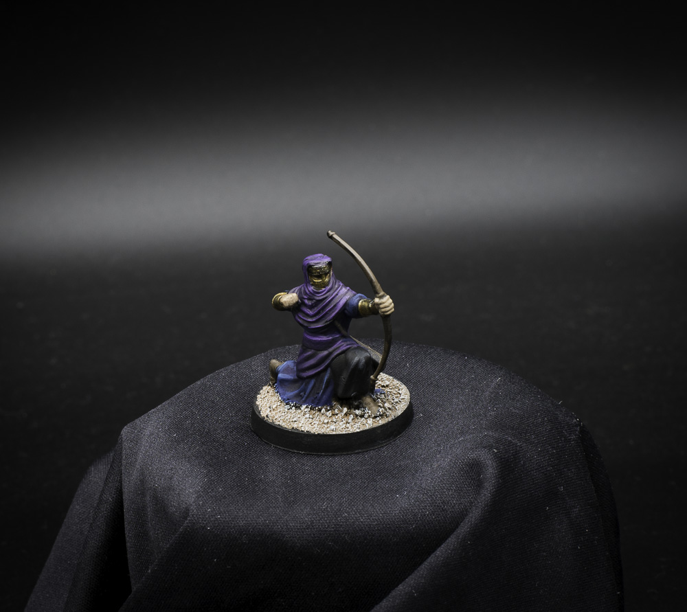 Nights Cult Archer 3D printed miniature painted