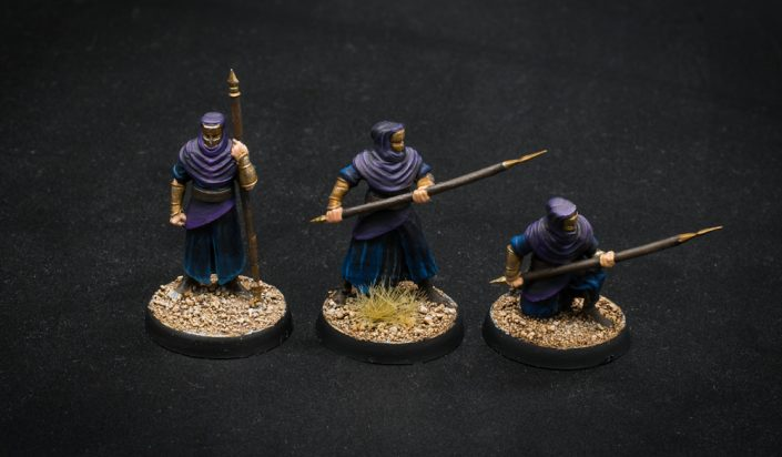 Nights Cult fighter 3D printed miniature painted