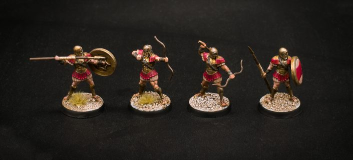 Realm of Eros fighter 3D printed miniature painted