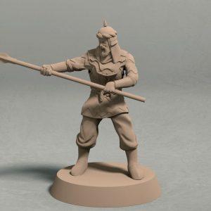 Empire of Jagrad spearman pose 3 front