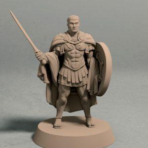 Graius the Golden front 3d printable miniature