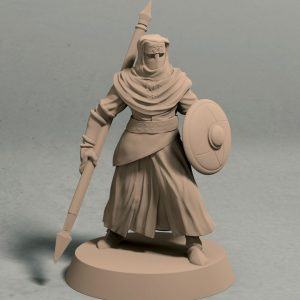 Nights Cult Spear and shield Pose 1 front